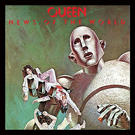 Multi-Colour,12-Inch Queen News of The World Framed Classic Album Sleeve Memorabilia