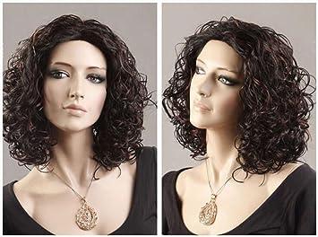 Fa Pelucas Curly - Pelucas Naturales, mullidas y de Moda para Las Mujeres, Color
