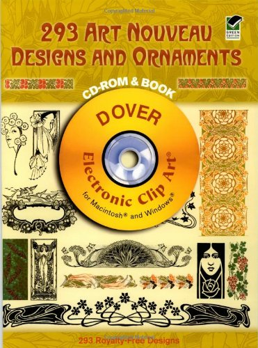 Download 293 Art Nouveau Designs and Ornaments (Dover Electronic Clip Art) (CD-ROM and Book) pdf