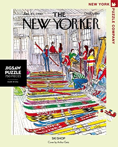 New York Puzzle Company - New Yorker Ski Shop - 750 Piece Jigsaw - New Shop Yorker
