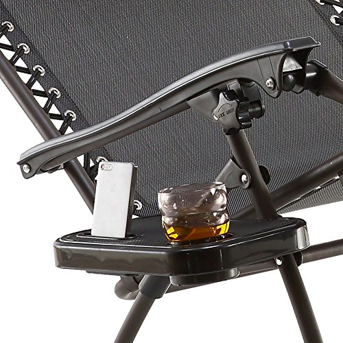(Just Relax Gravity Chair Clip-on Table and Cup Holder, Black)