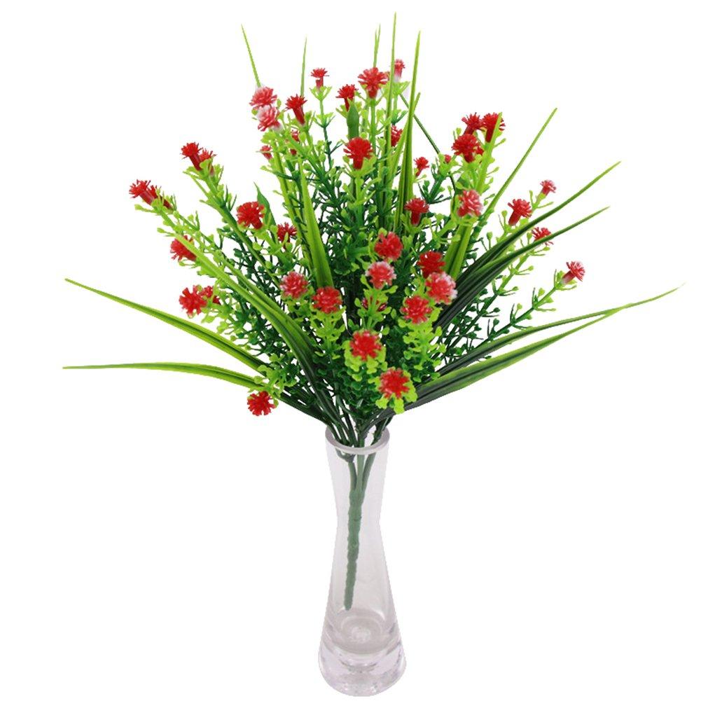 ZCON 1Pc Durable Babysbreath Artificial Flowers Waterproof Faux Plant Shop Home Decor - Orange