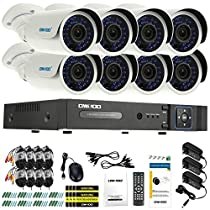OWSOO 8CH AHD 1080N/720P 1500TVL CCTV Surveillance DVR Security System HDMI P2P Cloud Onvif Network Digital Video Recorder + 8720P Outdoor/Indoor Infrared Bullet Camera + 860ft Cable support IR-CUT