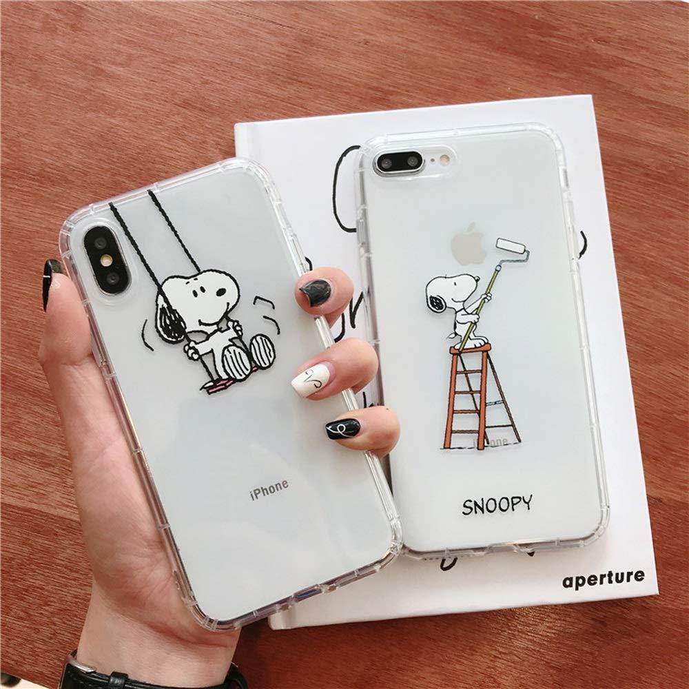 Amazon com: Caceesc Cute Snoopy Series Apple Phone Case