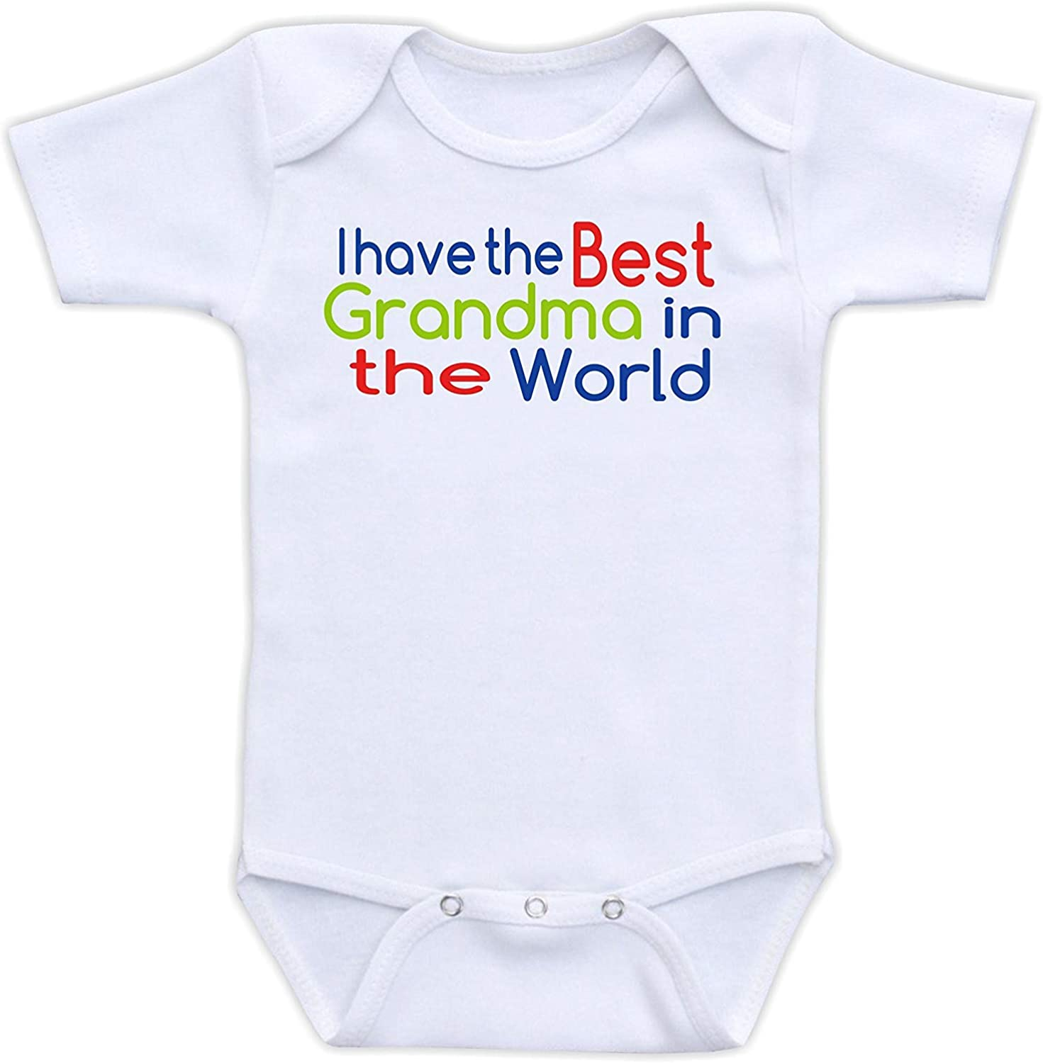 Iliogine I Have The Best Grandma in The World Baby Baby Novelty Infant Bodysuit