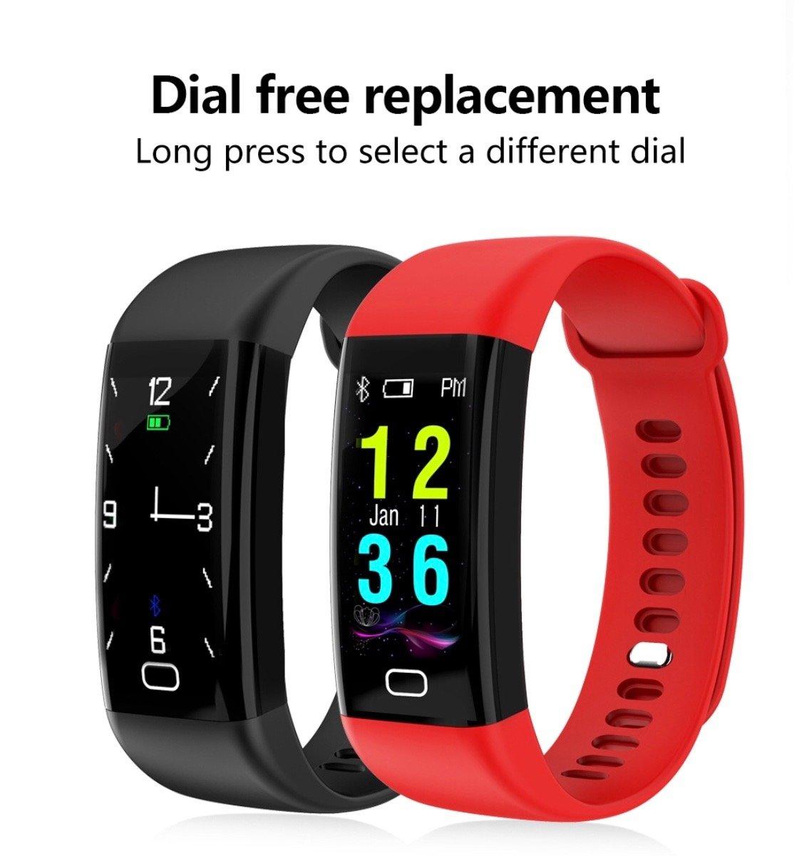 Reloj inteligente F07 Fitness Tracker con correa elegante, sistema IP68 y GPS, impermeable, para hacer deporte: Amazon.es: Deportes y aire libre