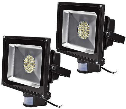 Leetop 50W 30W 10W Blanco Cálido LED Foco Proyector Luz, Foco proyector con Iluminación LED