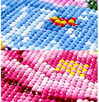 INSANYJ 5D Diamant Painting Full Gro/ß Bilder f/ür Erwachsene Kinder,4 Packung Diamond Painting Kreuz Stich DIY Diamant Malerei Kit,f/ür Home Wall D/écor
