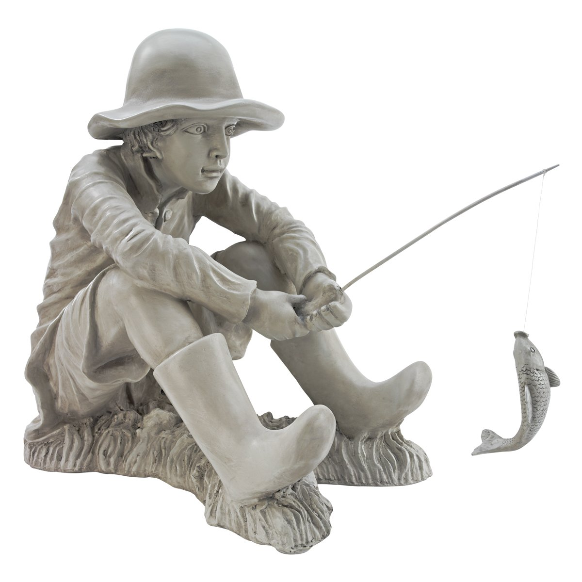 Design Toscano Gone Fishing Fisherman Statue