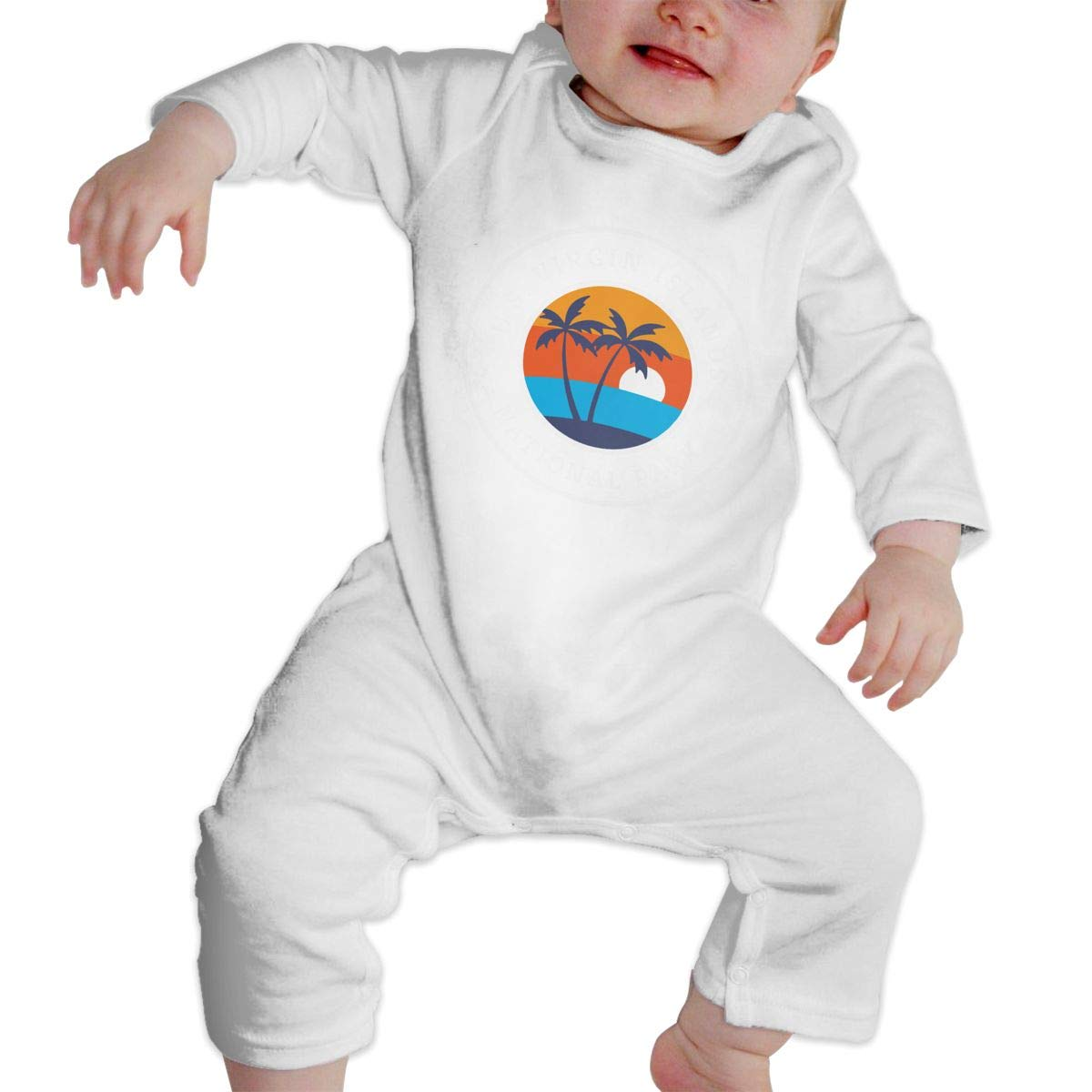 Suit 6-24 Months Toddler Round Collar Virgin Island National Park Long Sleeve Bodysuits 100/% Cotton