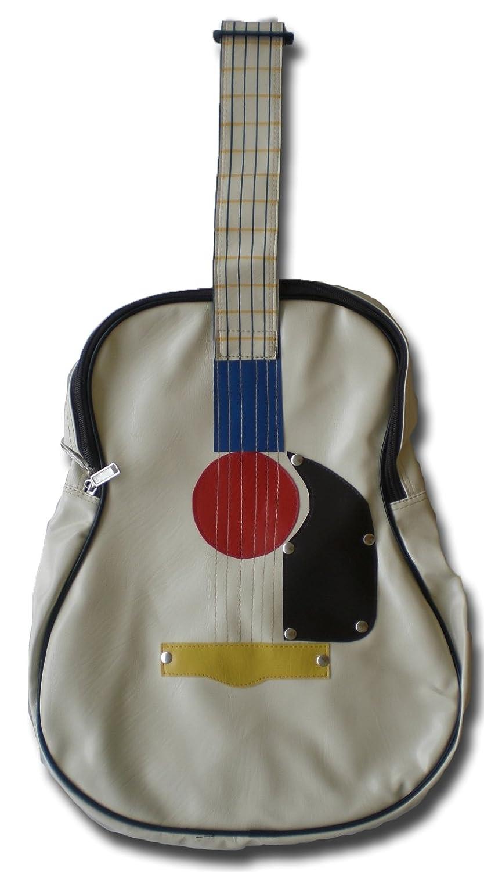 Bag ** creme ** Jukebox Music Guitar Handbag Sportsbag new Club vintage 38 x 31 x 10 cm by soljo