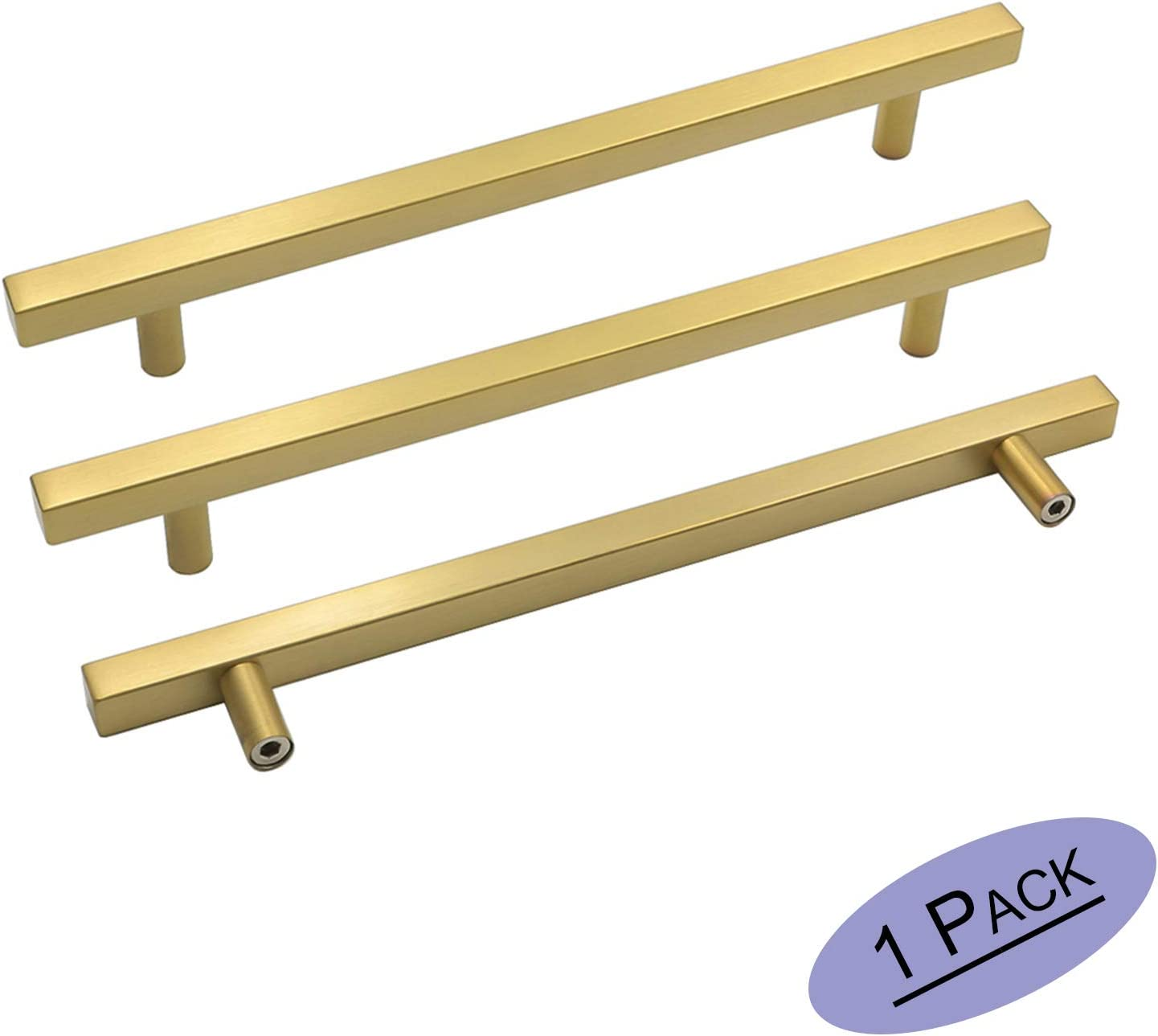 Square T Bar Kitchen Cabinet Handles Stainless Steel Cupboard Drawer Pulls Knobs