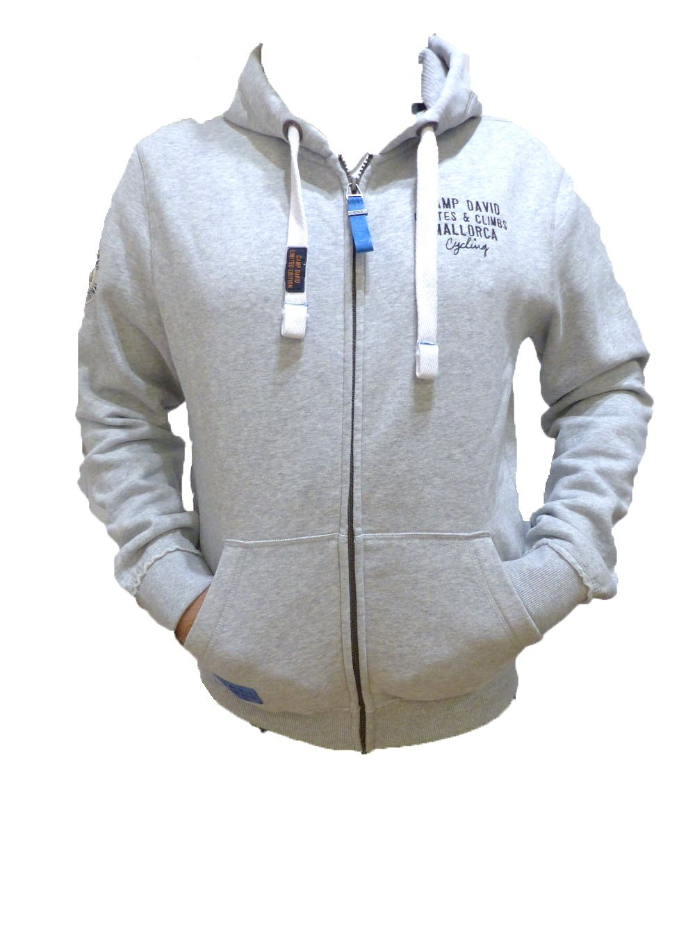 f80f0c9967fd CCU 5555 3912 GR Camp David Kapuzenjacke mit Artwork am Rücken Grey M   Amazon.de  Sport   Freizeit