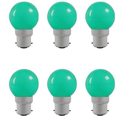 Havells LED Adore 0.5W B22 (Green, Pack of 6)