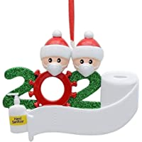 2020 Xmas Family Santa Christmas Tree Hanging Ornament Decorations Gifts PVC AU (2 Family Member)