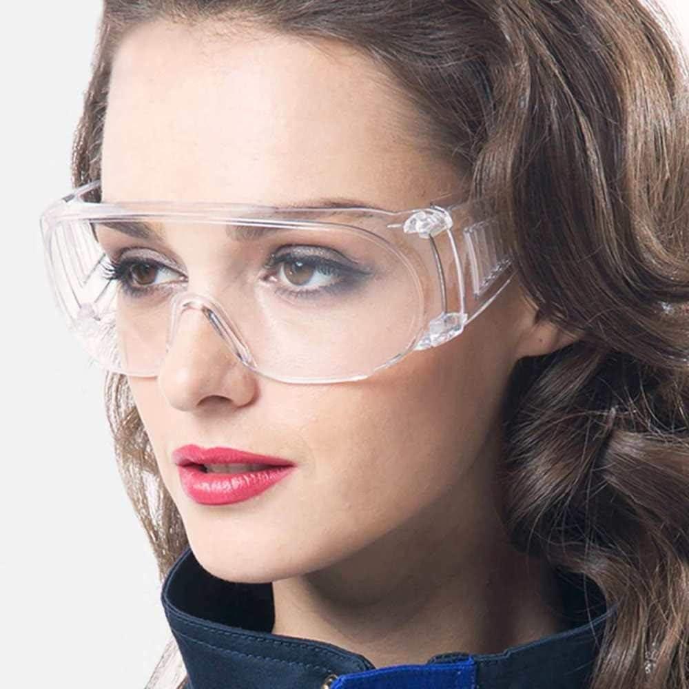 Gafas de seguridad médica Gafas de lentes transparentes Gafas protectoras para los ojos Antiniebla Antisand Resistente al polvo Luz UV Completamente cerrada