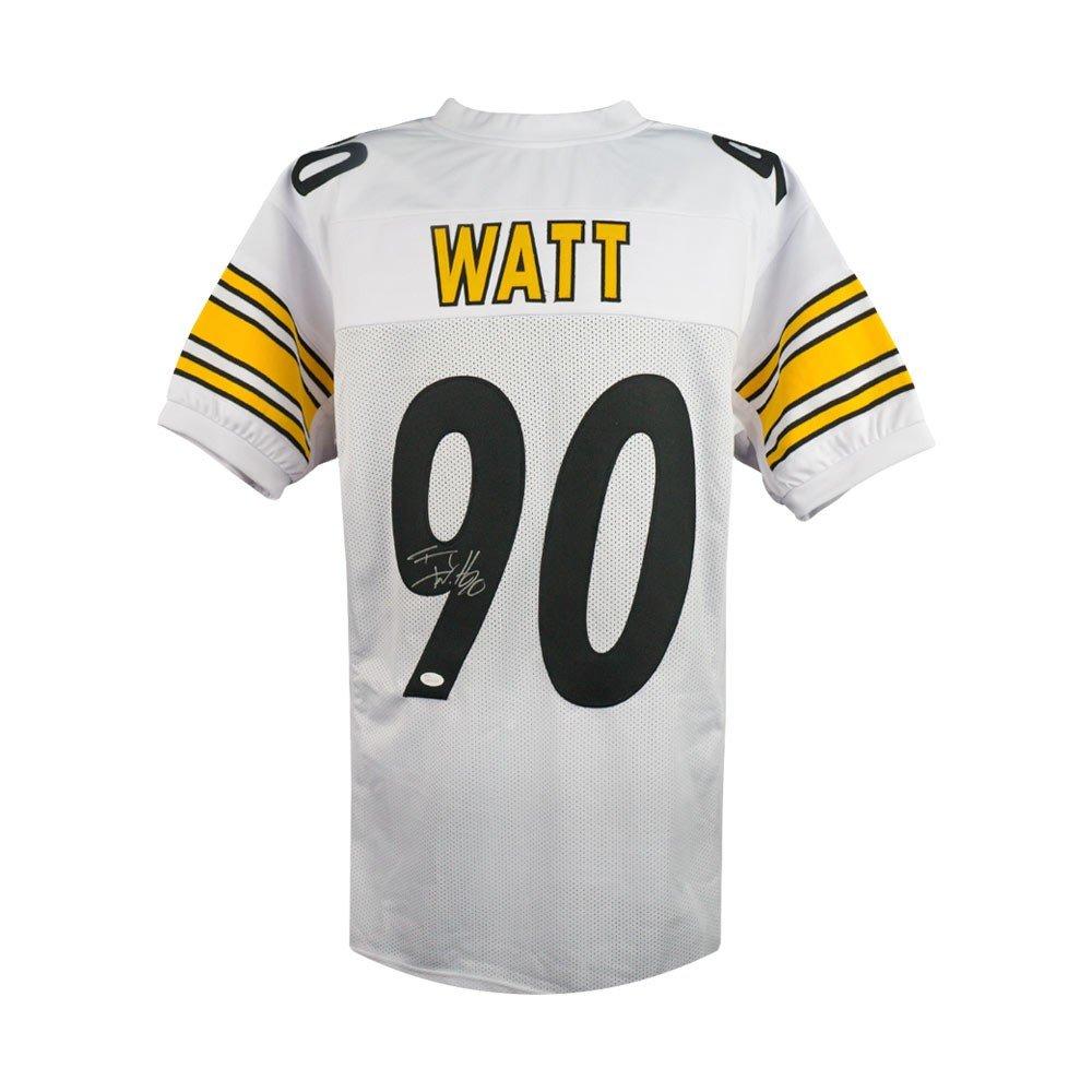 TJ Watt Autographed Pittsburgh Steelers Custom White Football Jersey - JSA COA SCC