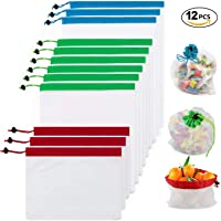 Yomitek Reusable Produce Bags,Zero Waste Mesh Produce Bags Washable with Drawstrings for Grocery Shopping & Storage,Produce Storage Bags ECO Green for Fruits and Veggies