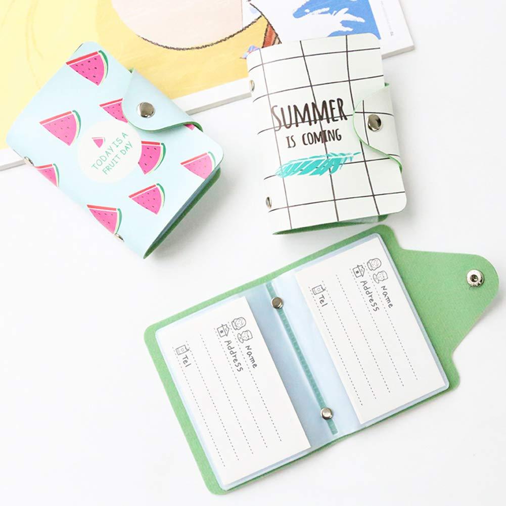 Himpokejg Fashion Letter Fruit Printed Anti-degaussing Card Holder Bag Case Girls Gift-1# by Himpokejg (Image #3)