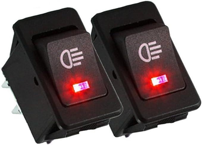 indicatore LED con 4 colori Interruttore a bilanciere per auto commutatore 30 A 12 V Qiorange 4Pcs