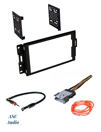 asc audio car stereo radio dash install kit, wire harness, and antenna adapter to install a double din radio for 2004 2005 2006 2007 2008 pontiac 2000 pontiac grand am radio wiring diagram pontiac grand prix stereo wiring