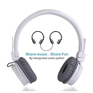 Cuffie per bambini, On Ear Auricolari Bambini Ragazzi e Ragazze per condivisione Musica, Stereo Pieghevole Cuffia con 3.5mm Cavo Audio Portatile Headset per iPad iPod Tablet PC da Termichy (Rosa)