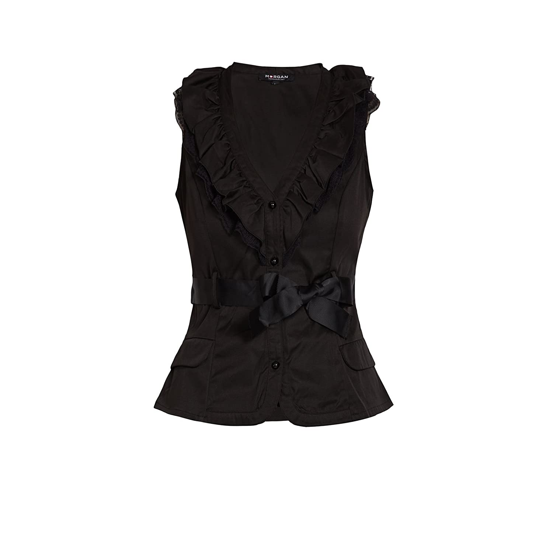 Morgan 142-OBELI.N - Camiseta de Tirantes Mujer, Negro, Talla 38