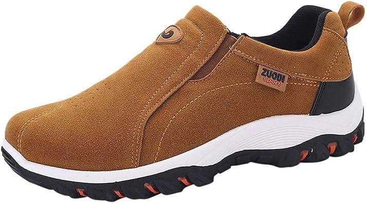 Mocasines para Hombre Calzado de Trabajo para Hombre Zapatillas casa Mujer Zapatos de Cuero Zapatos Calientes Zapatos de Algodon: Amazon.es: Zapatos y complementos