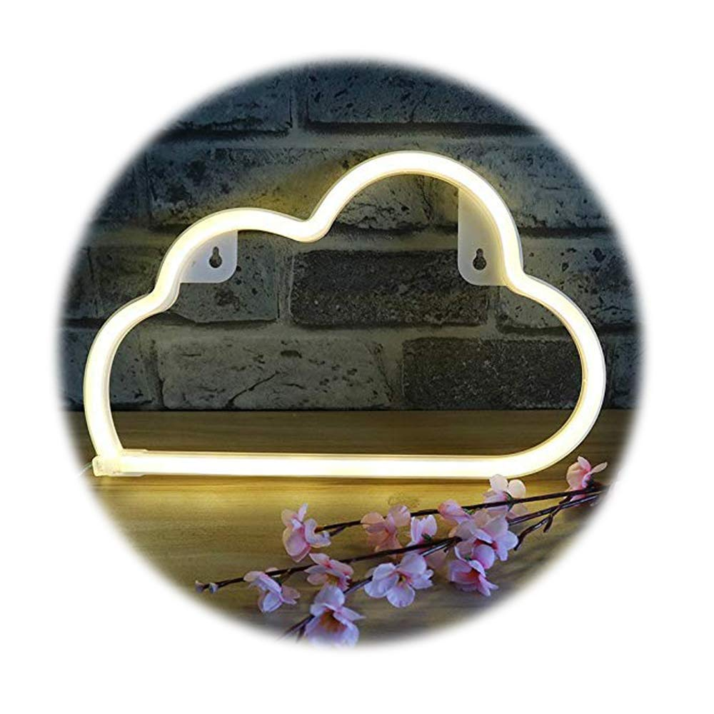 Cloud Neon Light Sign,Sky Theme Decoration Light,LED Cloud Shaped Room/Dorm Decor Light,Wall Decor/Table Decor for Chistmas,Birthday Party,Kids Room, Living Room, Wedding Party Decor (Warm White)