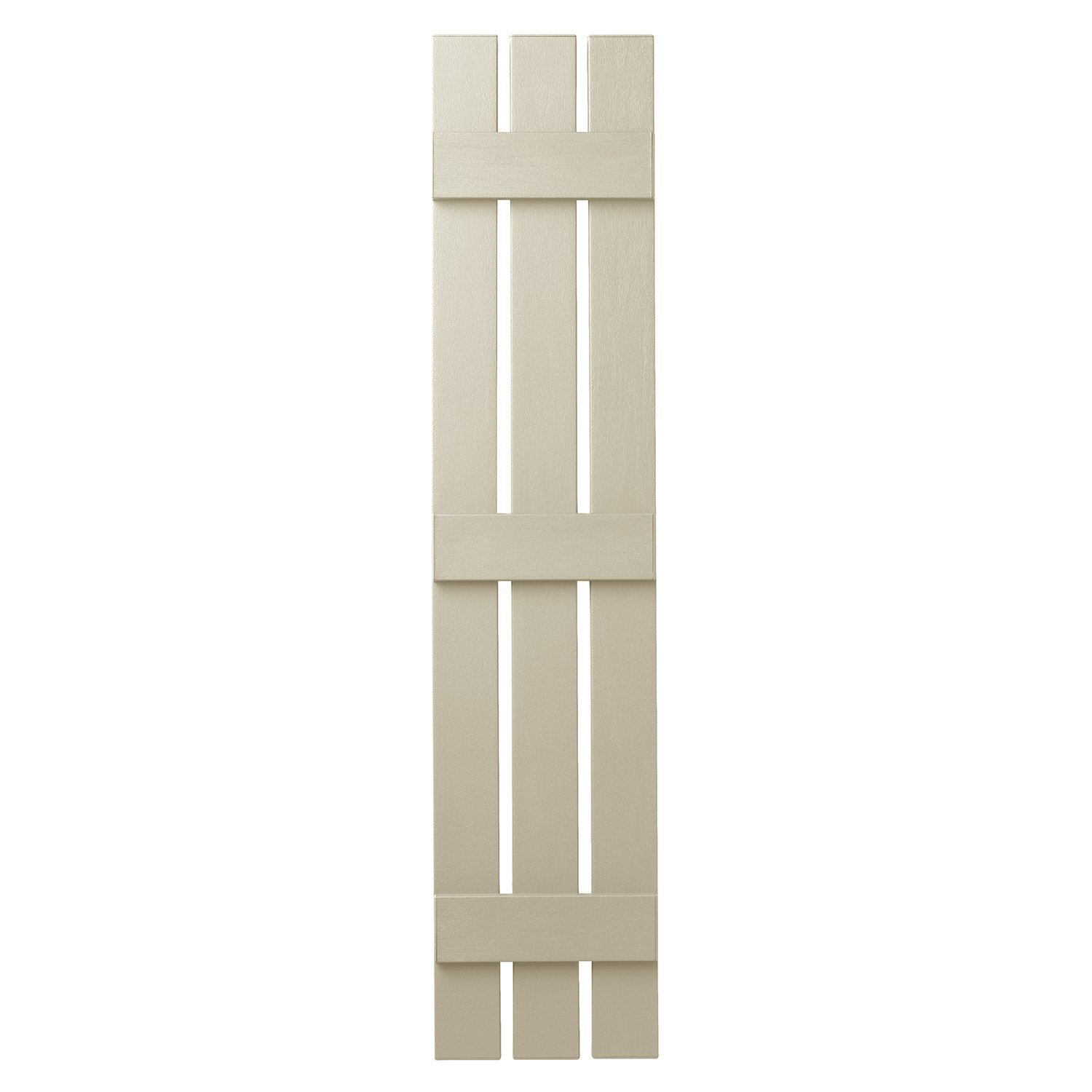 Ply Gem Shutters and Accents VIN301263 CRM 3 Open Board and Batten Shutter, Sand Dollar