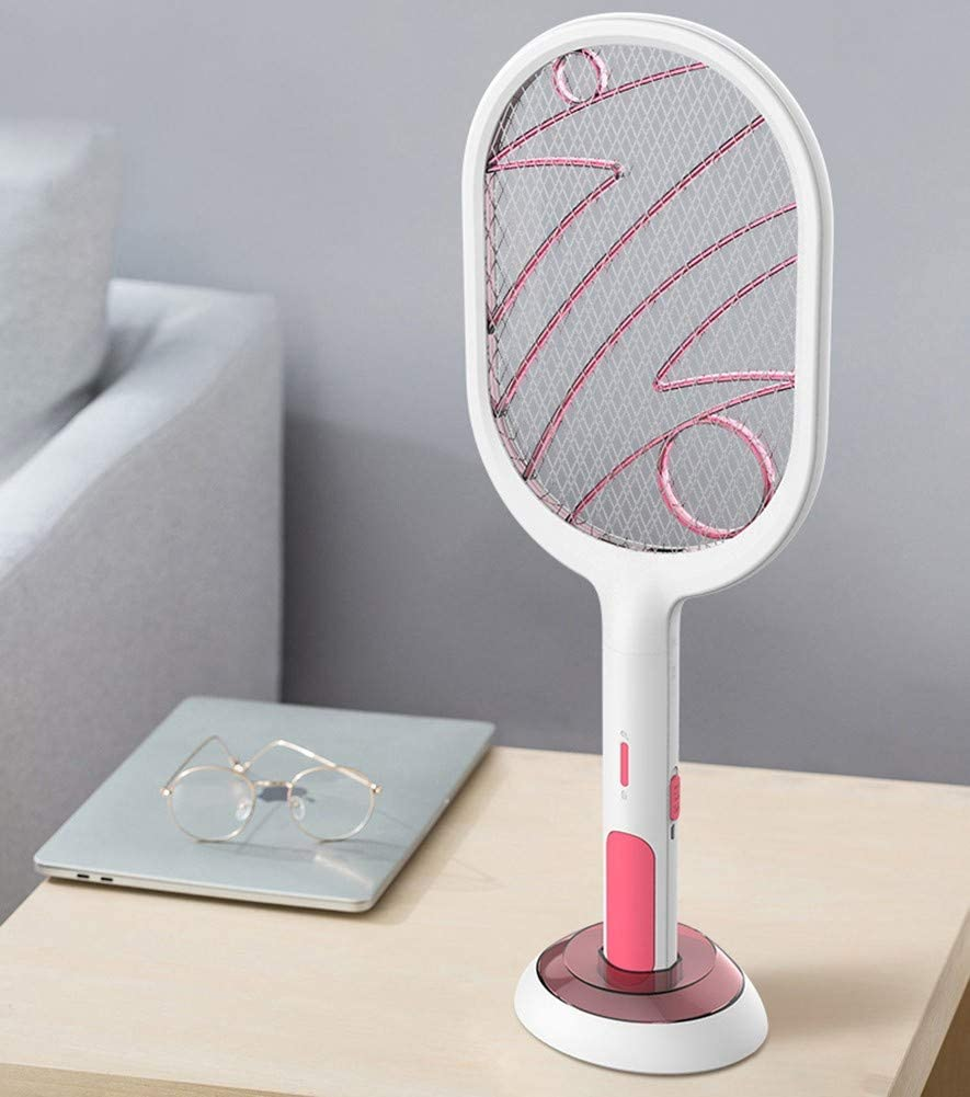 para Interiores Y Exteriores UNILIFE Raqueta Mosquitos El/éctrico Segura para Tocar Cargador Universal por USB 3000V Antimosquitos Matamoscas Zapper Raqueta