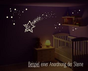 Wandtattoo Leuchtende Sterne, Sternenhimmel, fluoreszierende Sterne ...