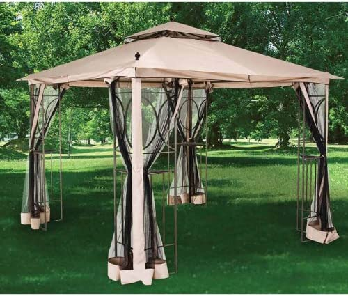 2010 Nantucket 10 x 10 Gazebo Replacement Canopy and Netting – RipLock 350