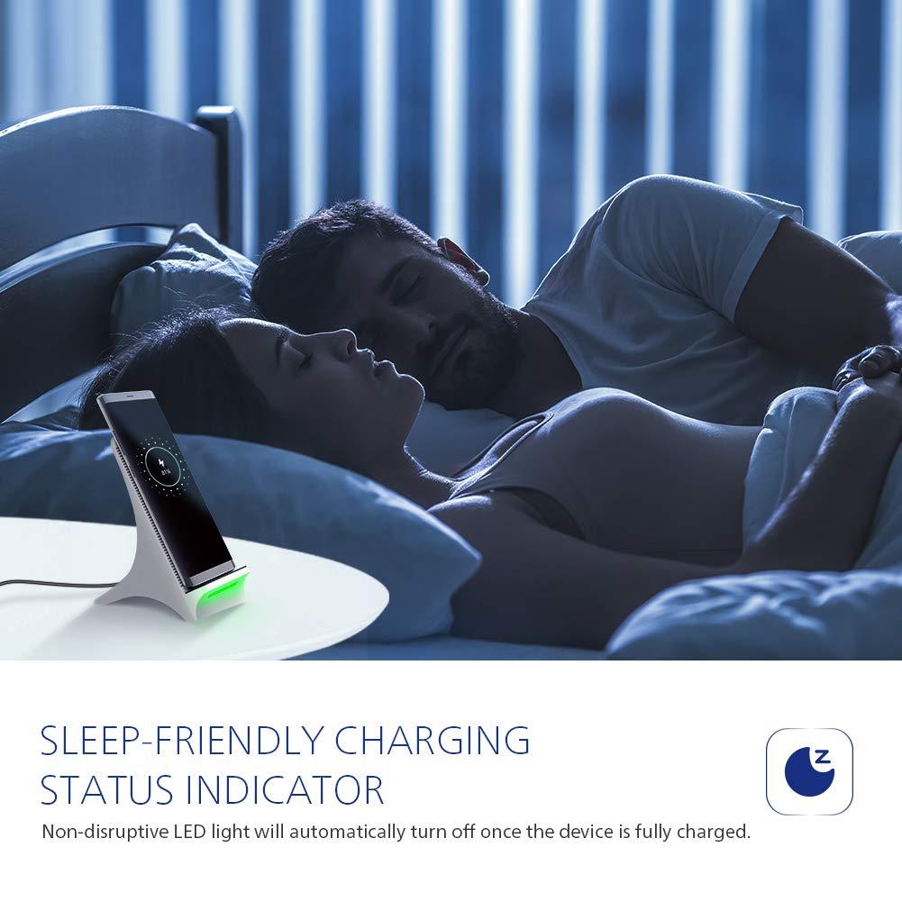 Fast Wireless Charger NOVETE Qi Induktive Ladestation mit L/üfter 10W f/ür Samsung Galaxy S10//S10+//S10e////Note 9//S9//S9+//S8//S8+//Note 8//S7//S7 Edge//S6 Edge 7.5W f/ür iPhone 8//8 Plus//iPhone X//XS//XS MAX//XR