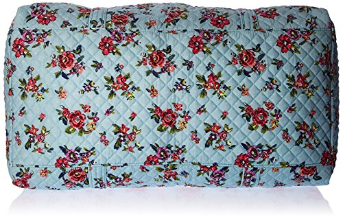 61OQ2Pg69FL - Vera Bradley Iconic Large Travel Duffel, Signature Cotton, Water Bouquet, water bouquet, One Size