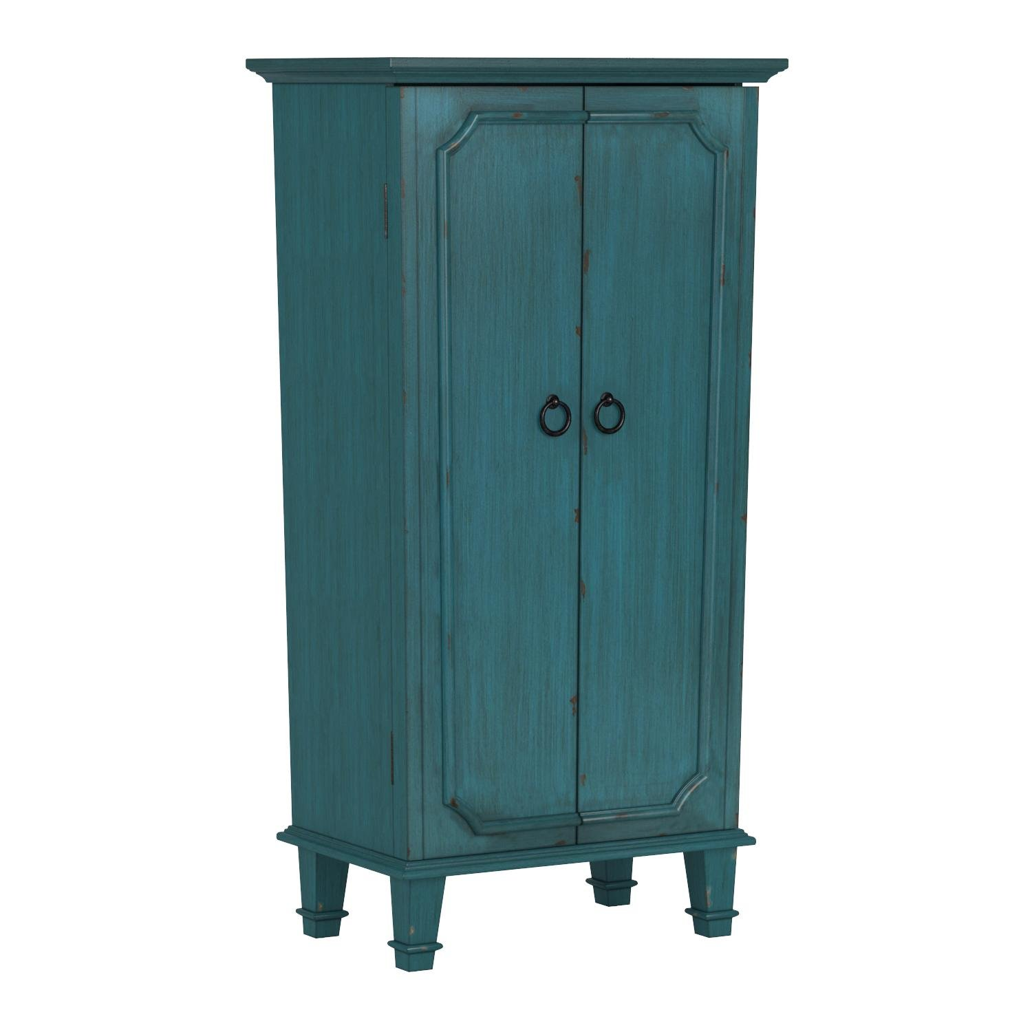 Hives and Honey Cabby Fully Locking Jewelry Armoire, 40'' x 19'' x 13.75'', Turquoise by Hives and Honey