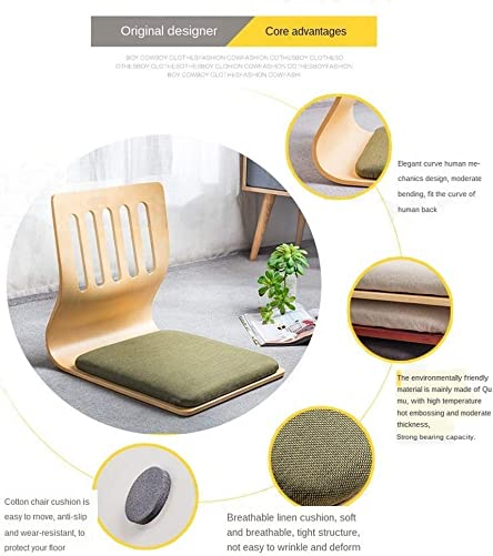 Game Chairs,Living Room Chair Japanese Legless Chair Bay Window Backrest Chair Lazy Chair Cushion,Floor Chair Lazy Sofa Game Meditation Floor Seating Floor Chairs