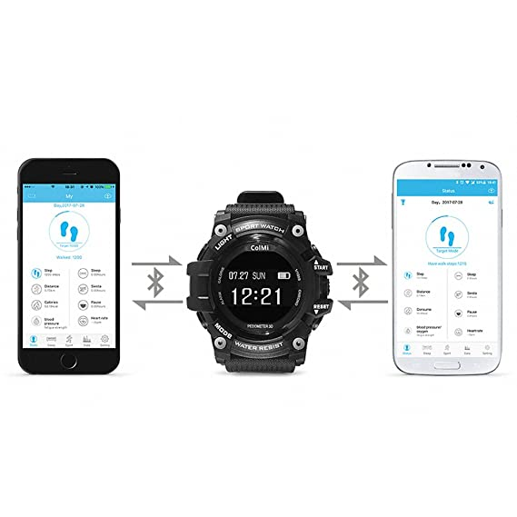 Amazon.com: T1 Smart Watch Waterproof IP68 Heart Rate ...
