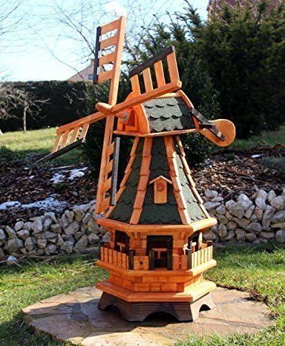 Windmühle Windmühlen mit Solarbeleuchtung weiß oder bunt Typ 4