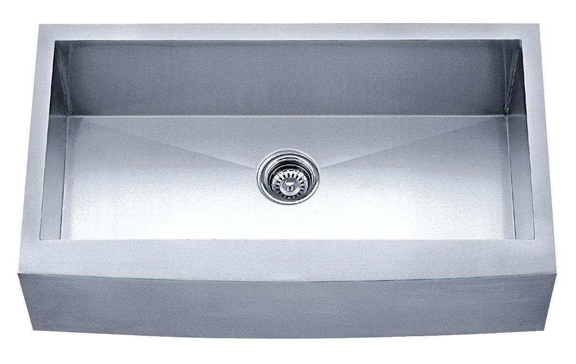 Dakota Signature Series Single Bowl Apron Front Zero Radius 16g ...