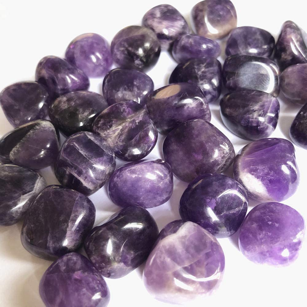 1//2 lb Natural Bulk Stone Amethyst Crystals from Brazil Healing Crystal Large 0.5-1 Natural Tumbled Stones Polished Crystal Kit for Reiki
