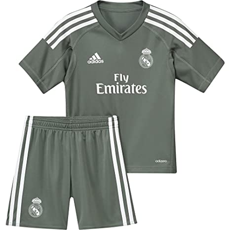 b321a55ac Image Unavailable. Image not available for. Color  adidas 2017-2018 Real  Madrid Home Goalkeeper Mini Kit
