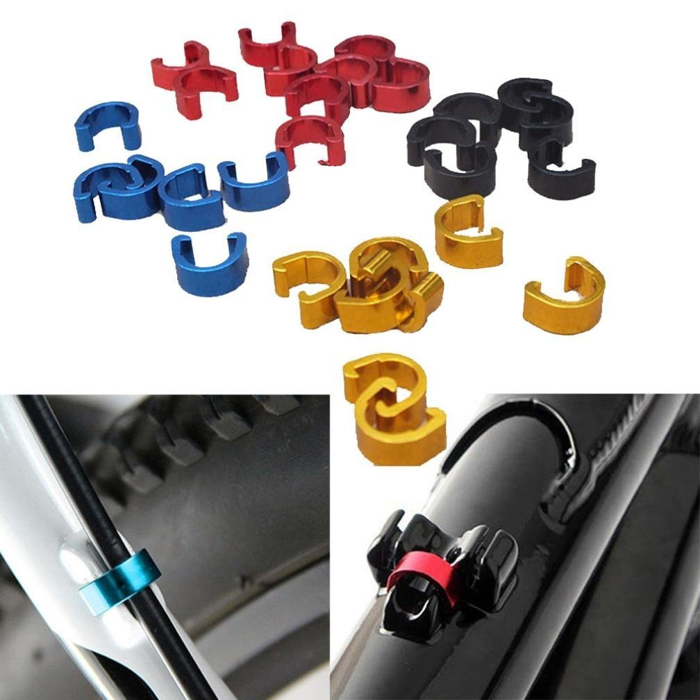 IGEMY 10pcs Bike Bicycle Cycle MTB C-Clips Buckle Hose Brake Gear Cable Housing Guide