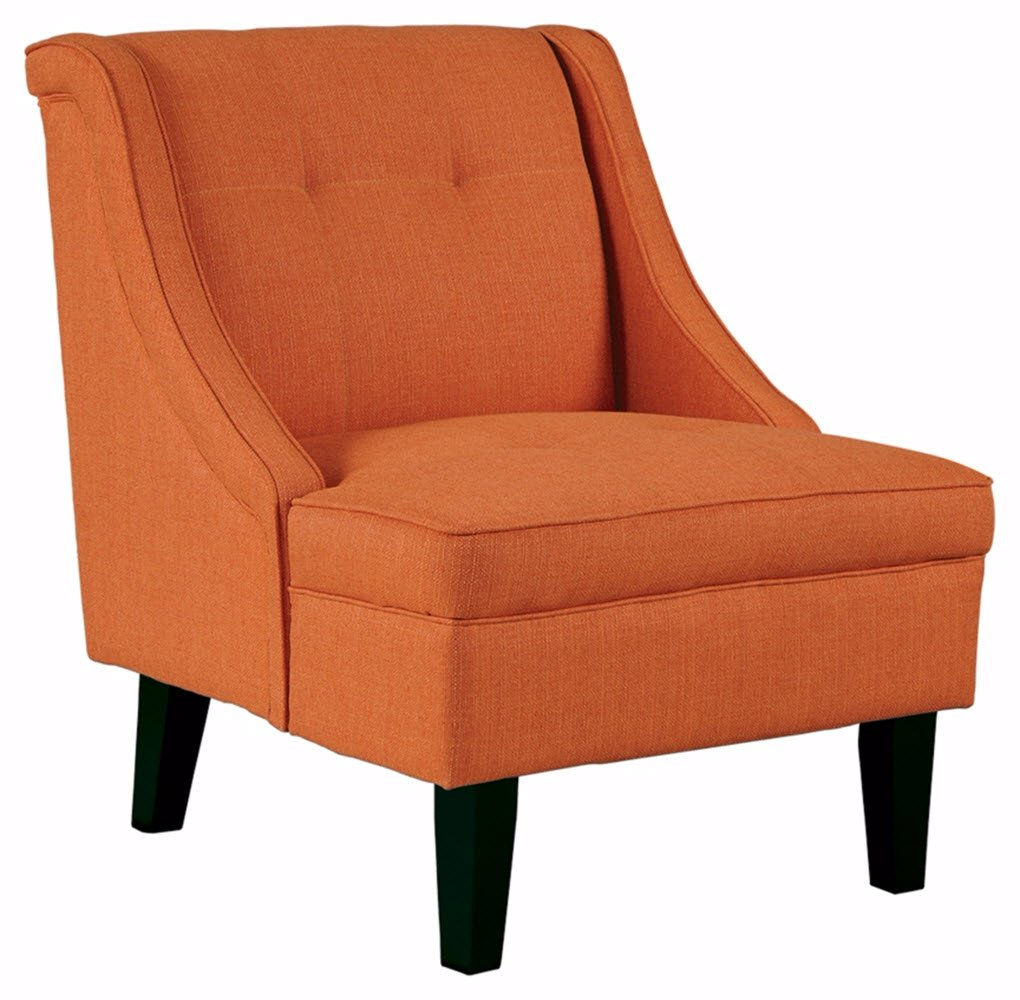 Amazon com ashley furniture signature design clarinda accent chair wingback modern orange kitchen dining