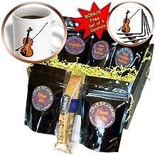 3dRose Music, Violin, Coffee Gift Baskets