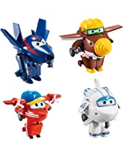 Super Wings Lote 4 transformables: Astra, Flip, Todd y Chace (Color Baby 85219