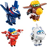 Super Wings Lote 4 transformables: Astra, Flip, Todd y Chace (Color Baby 85219)