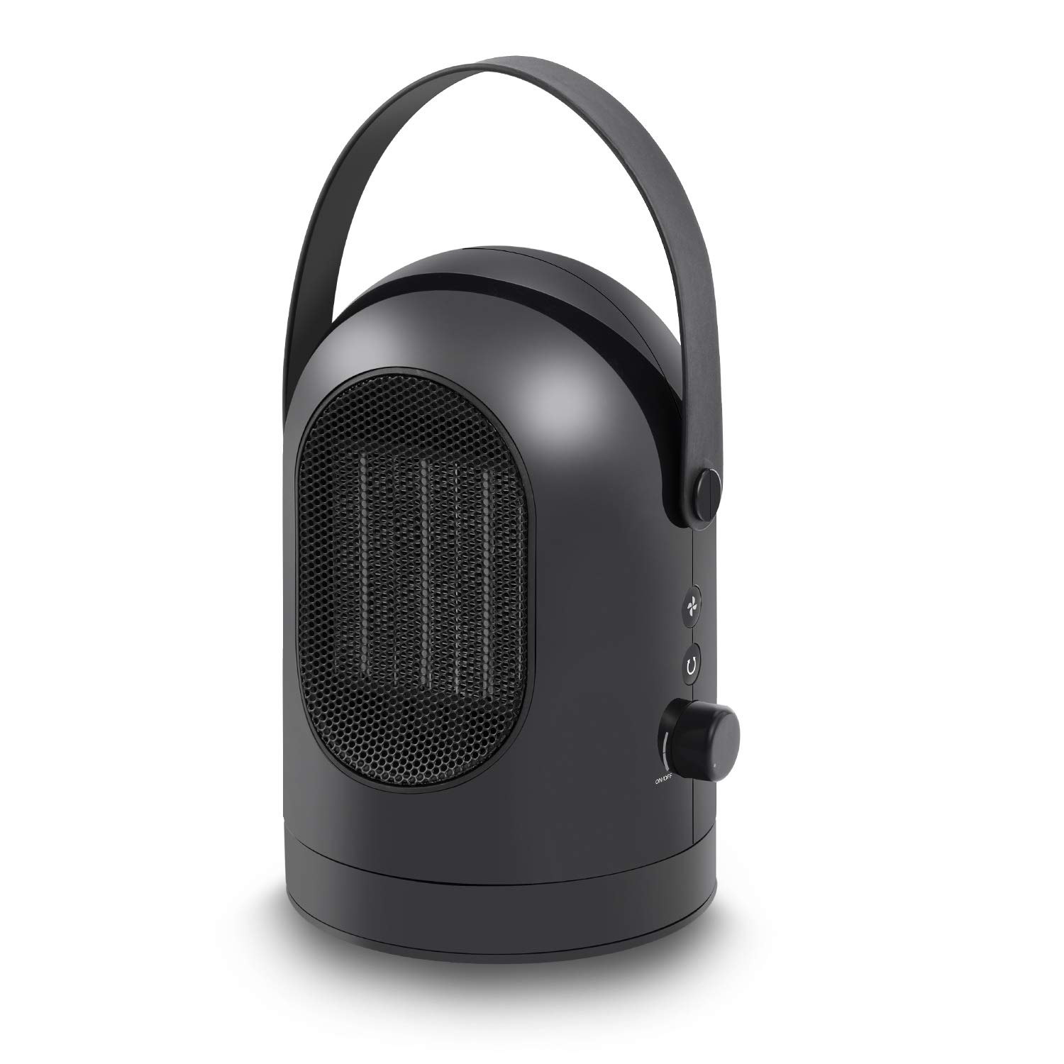 Fan Heater Oscillating Portable Ceramic Electric Heater, Personal Space Heater with Heat & Cool Settings, Adjustable Wind Speed, Overheat & Tip-over Protection for Office and Home Use, 600W, Black CZJ