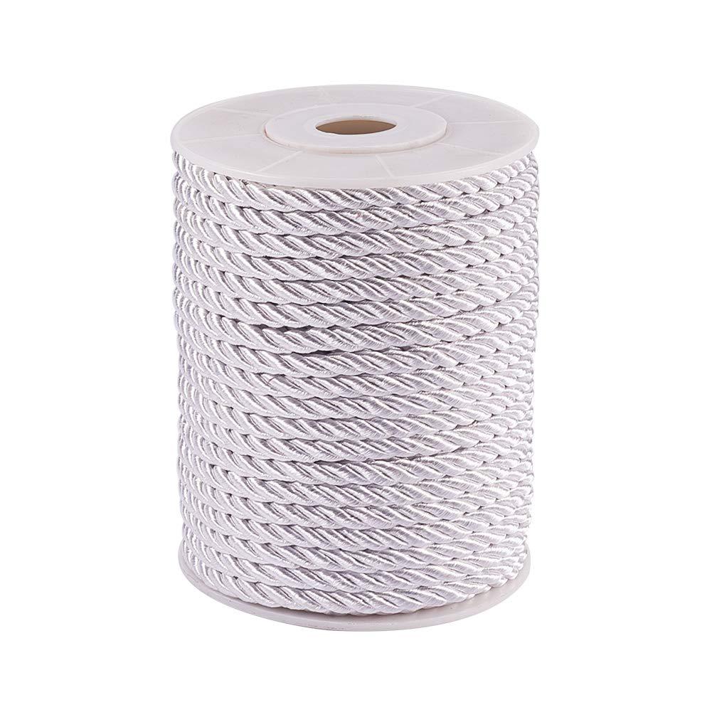 PH PandaHall 3mm/ 21 Yards Twisted Cord Rope Nylon Twisted Cord Trim Thread String (20m, Black) wh-NWIR-PH0001-06A