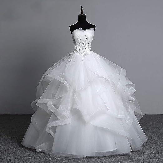 Viviani Vestido de novia, enaguas de 8 capas, sin huesos, falda de ...